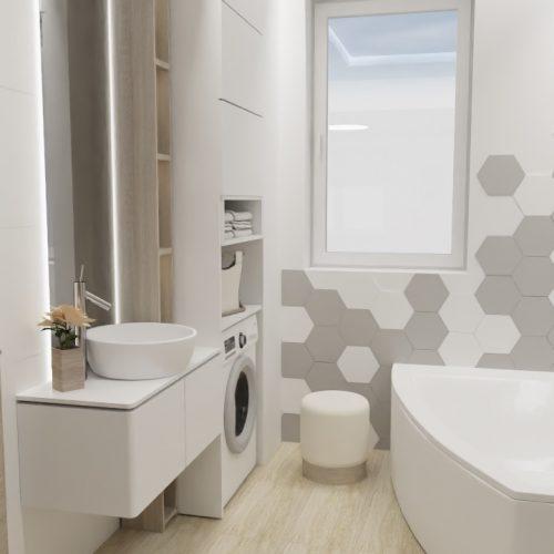 łazienka płytki heksagonalne
